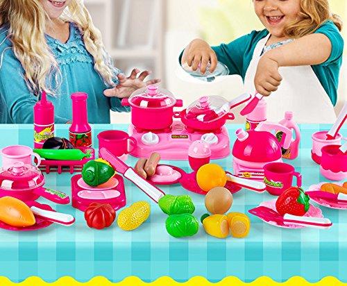 Demarkt Juguete Cesta de Corte Vegetales de Corte de Frutas Bebé Juego de Cocina Juguetes Juguete Vegetal Regalo de Cumpleaños Regalo de Navidad para Niños