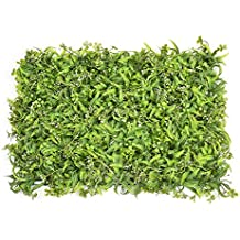 Artificial Hedge Panel Wall Green Faux Fence Mat Fake Privacy Screens Outdoor Greenery Panel Backdrop Trellis Outdoor Decor by Yunhigh