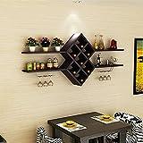 LUYIASI- Einfache Wohnzimmer Wand Weinregal Hängende Weinregal Restaurant Weinschrank Diamant Weinregal Shelf ( Farbe : A )