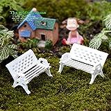 Sellify Size S : 2Pcs/LOT white chair doll house miniatures lovely cute fairy garden gnome moss terrarium decor crafts bonsai DIY 3 Sizes