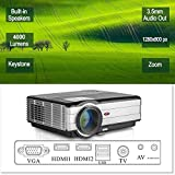 LCD HD projecteur vidéo, 4000 lumens WXGA multimédia LED projecteur Home Cinema...