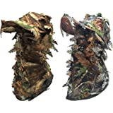 AOUTACC Camouflage Leafy Hat Balaclava 3D Full Face Mask Headwear Turkey Camo Hood Headcover Hunting Shooting Cycling Tactica