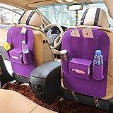 LIYUU Auto Auto Rücksitz Organizer Autoplanen Rücksitz Organizer Halter Taschen,Purple