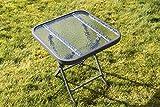 Metal Framed Glass Top Folding Garden Side Table