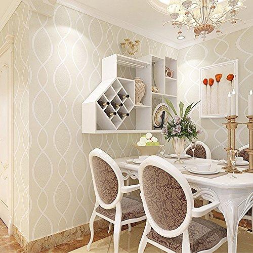 Zhzhco Europäische 3D Gestreiften Sofa Wohnzimmer Schlafzimmer Tv Hintergrund Wand Papier Vlies Nicht-Ich Klebstoff 0,53 M * 10 M,D