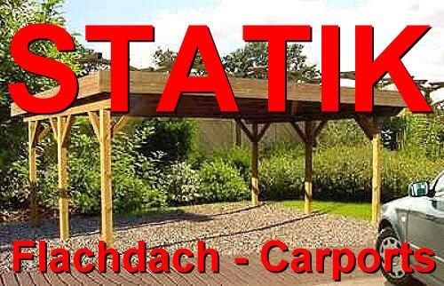 Statik Berechnung Flachdach Carports Breite: 4,00 m - Schneelast: 0,85 kN