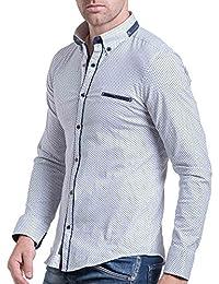 BLZ jeans - Chemise chic homme blanche à motifs
