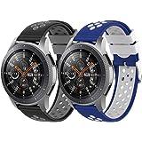 Songsier kompatibel med Gear S3 Frontier armband/Galaxy Watch 46 mm/Gear 2/Huawei Watch GT2 46 mm/Watch GT 46 mm/Moto 360/Tic