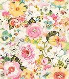 rasch Tapete 803549 aus der Kollektion Lucy in the Sky – Vliestapete mit buntem Blumen-Muster – 10,05m x 53cm (L x B)