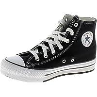 Converse Chuck Taylor All Star EVA Lift Hi Digital Powder Doré/Noir Polyester Ado Formateurs Chaussures