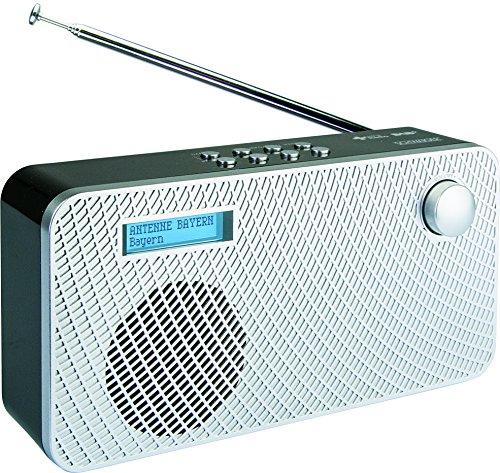 SCHWAIGER 081- Digital Radio DAB/DAB+, tragbar, mit Stab-Antenne und Wecker-Funktion, UKW & DAB Empfang, Betrieb via Netzteil oder Batterie, beleuchtetes LCD Display, automatischem Sendersuchlauf