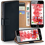 OneFlow Tasche für Samsung Galaxy S / S Plus Hülle Cover mit Kartenfächern | Flip Case Etui Handyhülle zum Aufklappen | Handytasche Schutzhülle Zubehör Handy Schutz Bumper in Schwarz