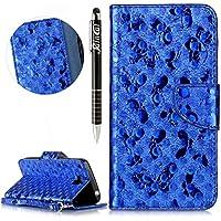 Huawei Y6 Pro Hülle,Huawei Y6 Pro Ledertasche Handyhülle Brieftasche im BookStyle,SainCat Schön Retro 3D Schmetterling... preisvergleich bei billige-tabletten.eu