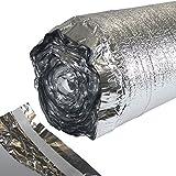 50 m² ALU Trittschalldämmung 2 mm für Laminatunterlage oder Parkettunterlage mit Dampfsperre
