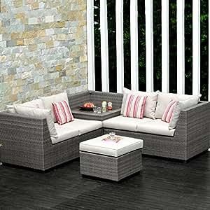 Lifestyle Garden Outdoor Salon de jardin avec canapé d'angle des îles Andaman
