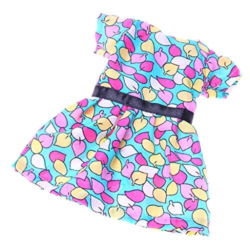 Gazechimp 1 Stück Modische Einteiliges Kleid Puppenkleid Bekleidung Für 14 Zoll Mädchen Puppen Outfit - # (2 Kostüme Stück Plaid)