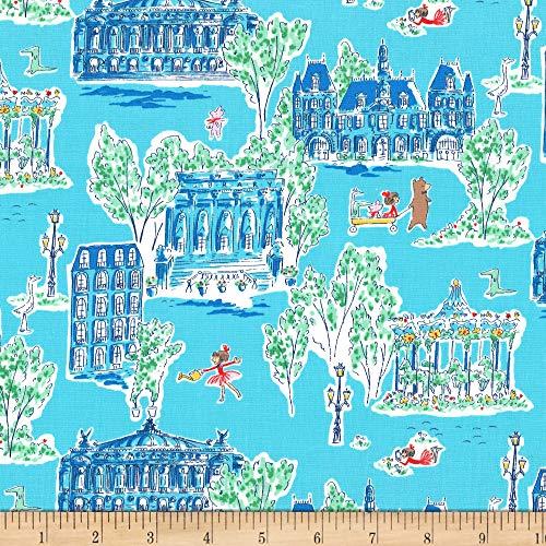 Michael Miller 0673192 Fabrics Lola Dutch Around Town Blue Stoff, Textil, blau, By The Yard (Dutch Blue Bekleidung)