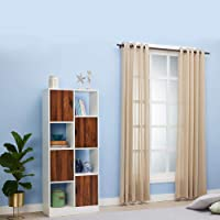 Wakefit Barnes Engineered Wood Bookshelf, Matte Finish, White and Walnut, Set of 1