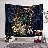 Shentop Psychedelic Light Tapestry Stampa a Parete Mistero in Poliestere Coperta da tappezzeria da Parete Coperta da Tavolo Coperta Colore 3 150X130CM