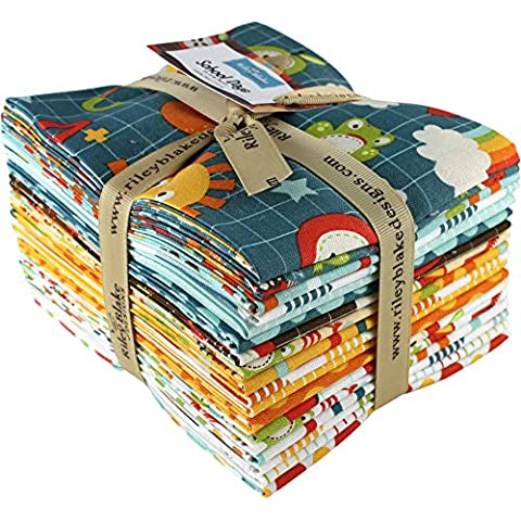 Zoe Pearn Designs School Days 18 Fat Quarter Bundle Riley Blake Designs FQ-4820-18 by Riley Blake Designs - Quarter Fat Fq Bundle