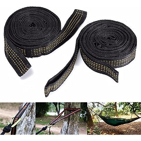 OUTERDO 2xAmaca Cinghie Tying Tie Albero Hanging Tie Heavy Duty Estensione Sistema di Sospensione per Esterni - Regolabile