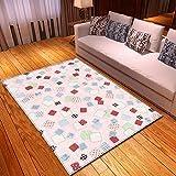 YSX-carpet Alfombra de Dormitorio Manta de la cabecera de la Alfombra Alfombra de la habitación Completa Cama Gruesa Frente Alfombra de Felpa Lavable,M5,5.9ftx3.9ft