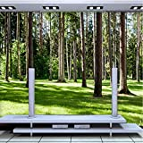 Hyiiw Personnalisé 3D Mur Papier Peint Paysage Forestier Tv Arrière-Plan Photo Mur...