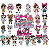 LOL 24pcs Cupcake Toppers Baby Boy Girls Party Supplies, LOL Cake Topper Baby Shower Decorations Theme Party