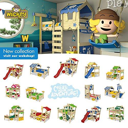 WICKEY Kinderbett CrAzY Candy Jugendbett 90x200cm mit Lattenboden, gelb-apfelgrün - 6
