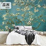 HUANG YA HUI Papiers peints Peintures Murales Sur Mesure Télé Du Salon Mur À L'Arrière-Plan Des Peintures À L'Huile Van Gogh Papier Accrocher Un Papier Peint Fleuri Sur Les Murs.