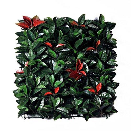Viridium Photinia Siepe artificiale in mattonelle da 50x50 cm