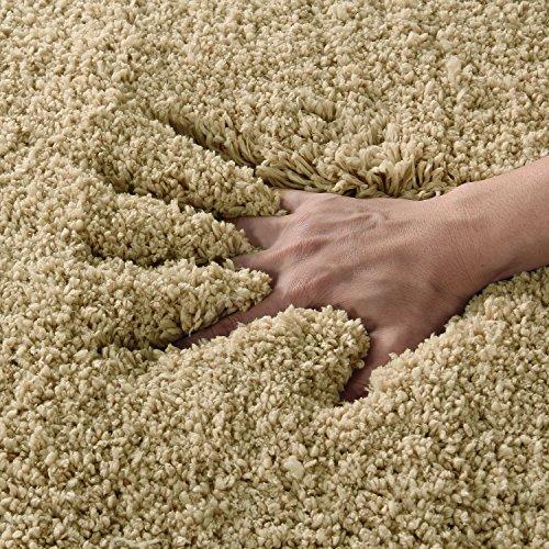 Norcho tappeto bagno antiscivolo in microfibra morbido tappetino doccia lusso antibatterici per salotto bagno camera lavabile in lavatrice (cachi 80x50x4cm)