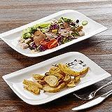 """Vancasso Série GITANA 2pcs Assiettes Plates Service de Table Porcelaine Rectangulaire 13""""&11"""" Assiettes de Présentation Hors d'Oeuvre Plat Vaisselle Céramique"""