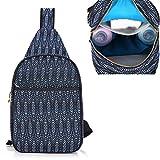 Baby Wickeltasche Sling Rucksack,Cross Body Umhängetasche Baby Flaschen Tasche Warmhaltetaschen Wasserdicht Isolierte Travel Brusttaschen Daypack für Mom & Dad(Blau 02)