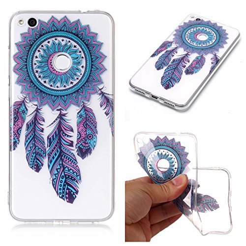 Coque Huawei P8 Lite 2017, Coque Huawei P8 Lite 2017 Case Silicone, Cozy Hut Coque Huawei P8 Lite 2017 Housse Transparent Etui en Silicone Soft Clear TPU Case Cover Housse Souple de Protection Coque M Carillons bleus