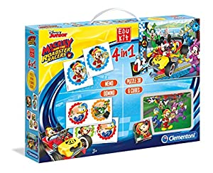 Clementoni-13760 Edukit 4 en 1: Mickey and The Roadster Racers, (13760)