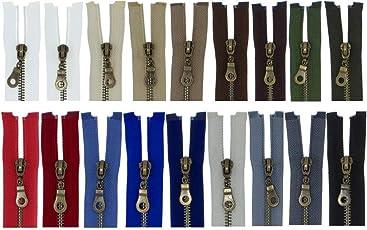 FIM Reißverschluss Metall Nr. 5 mittelgrob Brüniert Teilbar für Jacken