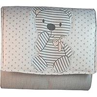 BEBE per borsa di stoffa macchie grigio con orso applicazione