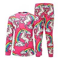 AmzBarley Unicorn Pyjamas for Girls Pjs Kids Pyjama Set Unicorns Rainbow Pajamas Sleepsuit Children Sleeping Tops Bottoms Sleep Pants Outfit