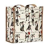 Signare Borsa donna tessuto stile arazzo Shopping alla moda animale (Gatto Atteggiamento)