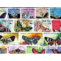 motivos 100 diferentes Mariposas sellos (sellos para los coleccionistas)