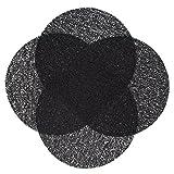 Zollner 4er-Set Tischsets Platzsets rund, schwarz (weitere verfügbar) Durchmesser 38 cm, abwischbar, Kunststoff, Serie Sol