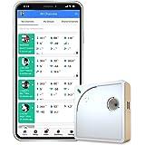 UbiBot WS1 Termómetro inalámbrico de WiFi, temperatura remota, humedad, monitor de luz, sensor de medio ambiente y alertas de