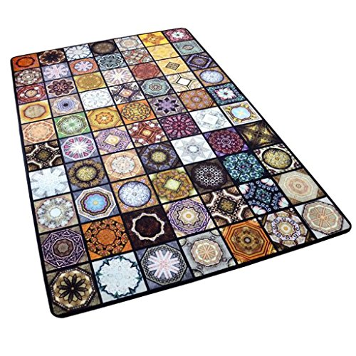 MNII Creative carpet Rectangular carpet Fashion parquet bedroom living room Coffee mats Study carpet Decorative carpet 40 ~ 180CM , 140cm x 200cm , porcelain mosaic- Home decoration