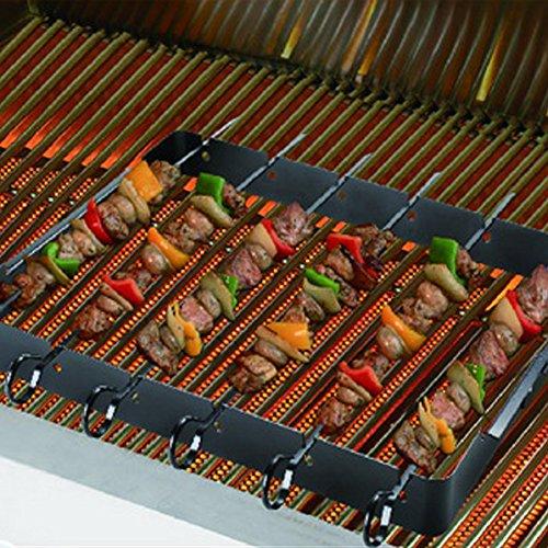 Shish Kabob Rack for Grills, BBQs and Ovens - NON Stick