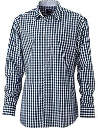 JAMES & NICHOLSON - chemise vichy manches longues à carreaux - repassage facile - JN617 - Homme