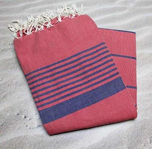 Grande fouta tunecina Ref 06–se Utilise en–Manta Cama o Sofá XXL 200x 300cms N ° 1–100% algodón peinado