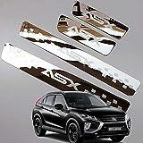para Mitsubishi ASX 2011-2020 Coche Patada Pedal Door Sill Antideslizante Tira Protecci/ón Accesorios Decorativos NA 4Pcs Externo Barra Umbral Puerta Acero Inoxidable