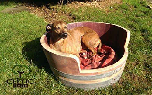 oak-wine-barrel-dog-bed-handmade