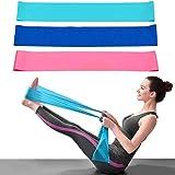 Dwuji Fitnessbandenset, 3 stuks, elastische stretchbanden, 1,5 m extra lang, krachttraining, Essentials antislip, trainingsba